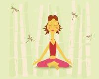 Yoga e natura illustrazione vettoriale