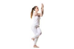 Yoga Eagle Pose Royalty Free Stock Photography