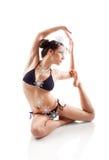 Yoga ed allungare Fotografia Stock