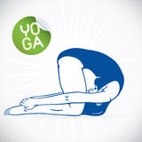Yoga-Eignungs-Modell Illustration Lizenzfreies Stockfoto