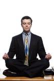 Yoga ejecutiva Fotografía de archivo libre de regalías