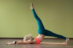 Yoga Eka Pada Ashtanga Namaskara Haltung Lizenzfreie Stockbilder