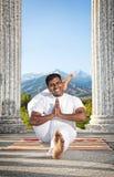 Yoga eka pada shirasana Royalty Free Stock Images