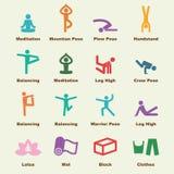 Yoga elements Royalty Free Stock Images