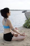 Yoga embankment Stock Photos
