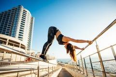 Yoga en aard stock afbeeldingen