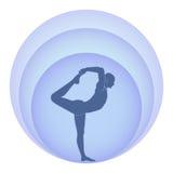 Yoga en aura royalty-vrije illustratie