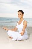 Yoga en el Caribe fotos de archivo libres de regalías