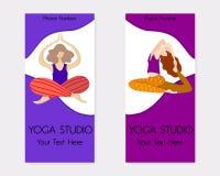 Yoga en el parque ilustración del vector