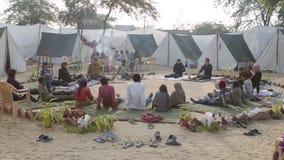 Yoga en festival Foto de archivo libre de regalías