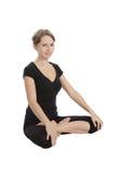 Yoga en geschiktheid. Royalty-vrije Stock Afbeeldingen
