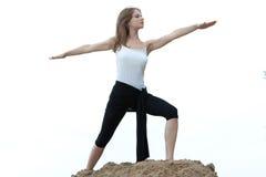 Yoga en geschiktheid. Royalty-vrije Stock Afbeelding