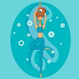 Yoga en la actitud Foto de archivo
