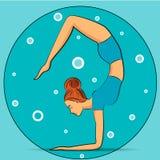 Yoga en la actitud del escorpión Fotografía de archivo libre de regalías