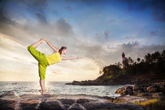 Yoga en la India fotografía de archivo