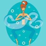 Yoga en la mediación Foto de archivo libre de regalías