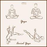 Yoga en Luchtyoga stock illustratie