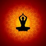 Yoga en Manadala stock de ilustración