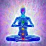 Yoga en meditatie stock illustratie