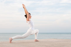 Yoga en meditatie Stock Foto