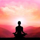 Yoga en meditatie Royalty-vrije Stock Afbeeldingen