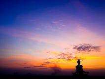 Yoga en meditatie Stock Fotografie
