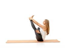 Yoga en naturaleza foto de archivo libre de regalías
