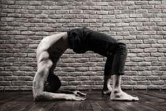 Yoga en naturaleza Imágenes de archivo libres de regalías