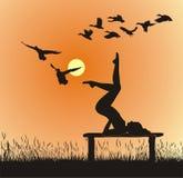 Yoga en nature Illustration Libre de Droits