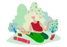 Yoga en stationnement illustration de vecteur