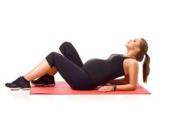 Yoga enceinte photo libre de droits