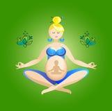 Yoga enceinte avec le bébé Photo libre de droits