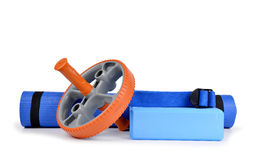 Yoga equipment Royalty Free Stock Images