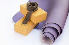 Yoga essentials, Royalty Free Stock Images