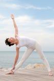 Yoga esterna Fotografie Stock