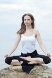 Yoga et forme physique. Photos stock