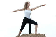 Yoga et forme physique. Image libre de droits