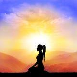 Yoga et méditation Image libre de droits