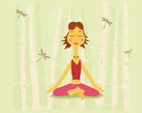 Yoga et nature illustration de vecteur