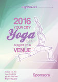 Yoga Event Poster Blue-Green & Purple Royalty Free Stock Image