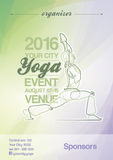 Yoga Event Poster Green & Purple Royalty Free Stock Image
