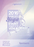 Yoga Event Poster Purple & Blue Royalty Free Stock Images