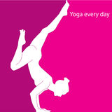 Yoga every day Royalty Free Stock Photography