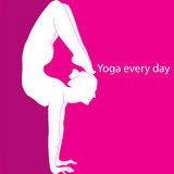 Yoga every day Royalty Free Stock Photos