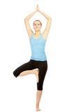 Yoga excercise Royalty Free Stock Photo