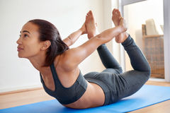 Yoga excercise Stock Photography