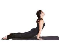 Yoga excercising urdhva mukha shvanasana Stock Photos