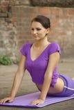 Yoga exercices Royalty Free Stock Photos