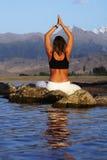 Yoga exercise Royalty Free Stock Photos