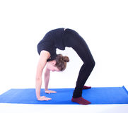 Yoga exercise Royalty Free Stock Image